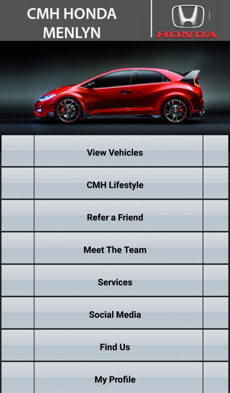The cmh honda menlyn app is now available to download for Honda car app