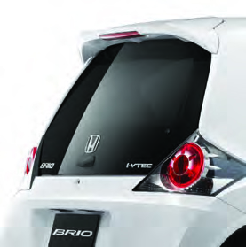 CMH Honda PInetown- Honda Brio Accessory 1 Boot Spoiler