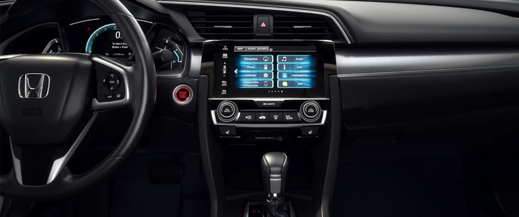 CMH Honda Menlyn- Honda Civic Interior infotainment