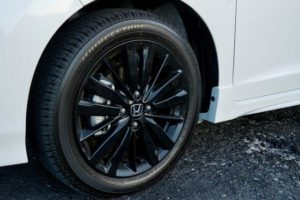 CMH Honda Pinetown- White Honda Jazz Stylish black alloy wheels