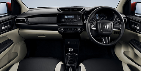 Honda Amaze - Interior - fitted with a Multi-Function steering wheel