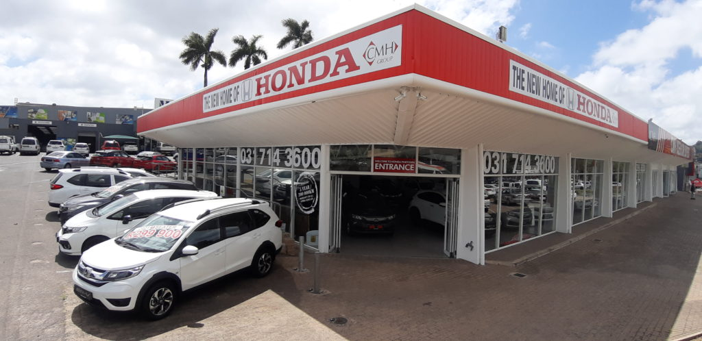 CMH Honda Pinetown New Car Showroom