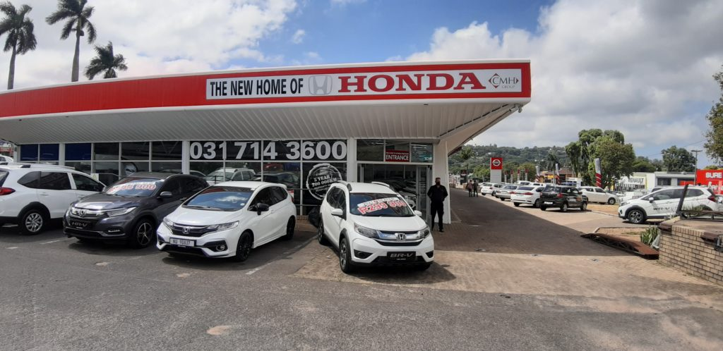 CMH Honda Pinetown New Car Showroom Front
