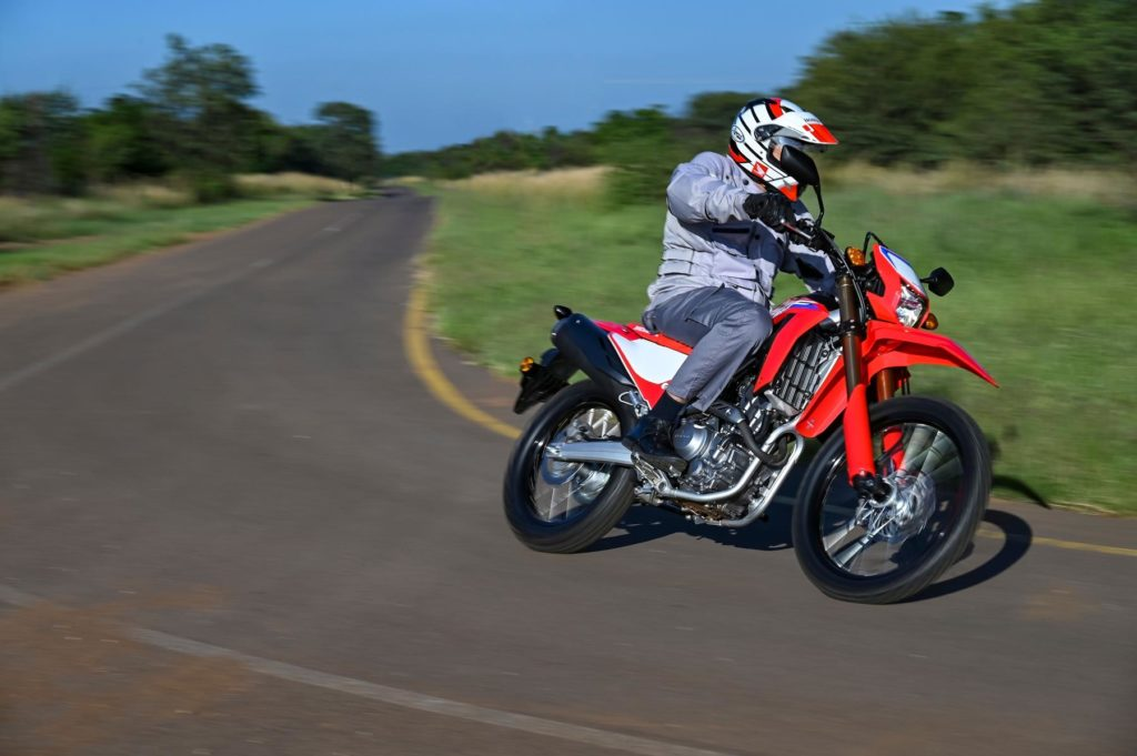 Honda CRF 300L on track