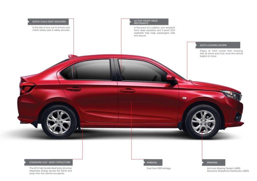 Honda Amaze Safety